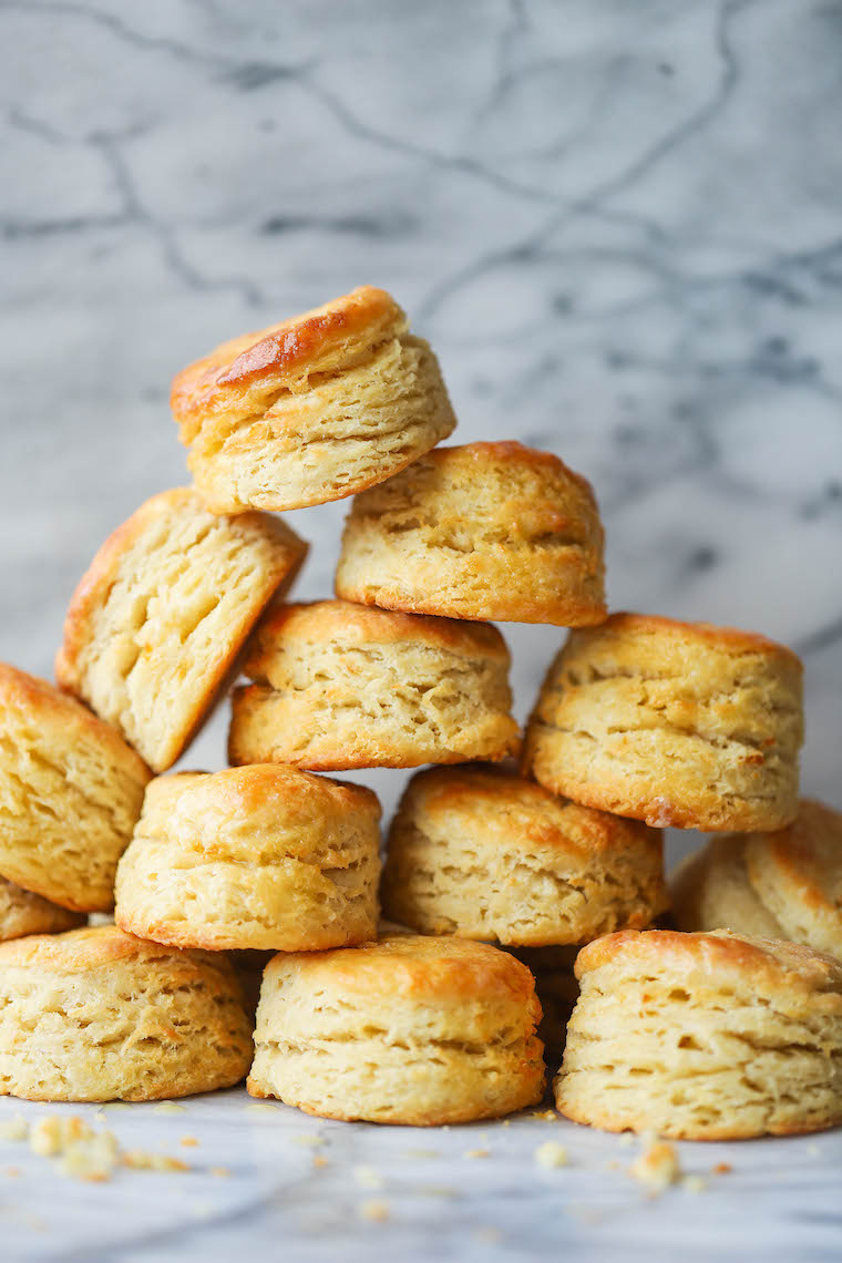 "Sourdough Biscuits - Use up your ""discarded"" starter in these EPIC biscuits! With that sourdough tang, these biscuits are so flaky, so buttery + so so good."
