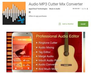 Audio MP3 Cutter Mix