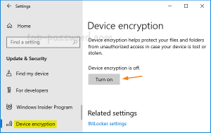 Windows 10 Device Encryption